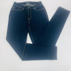 Maurices Womens Jeans 7 Blue Curvy Skinny Stretch